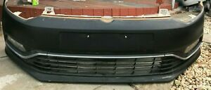 2015 VOLKSWAGEN POLO 6R,15-17, FRONT BUMPER COMPLETE BAR WITH FOGLAMPS