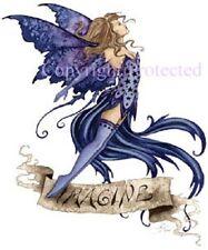 Amy Brown Print Imagine Banner Blue Fairy Faery Sign Fantasy Art Star Corset New