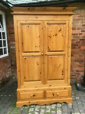 Gorgeous Large Solid Pine Double Door Wardrobe with Drawers