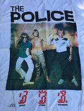 1982 The Police Silk Cloth Banner Andy Sting Stewart Ron Botwell Entertainment