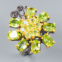 Peridot Ring Silver 925 Sterling Special Jewelry Price! Size 7.5 /R141874