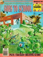 Vintage Cracked Collectors Edition Goes To School Magazine January '93 Issue #93