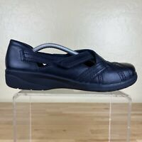 Clarks Soft Cushion Slip On Loafers Womens Size 8 M Black leather Comfort