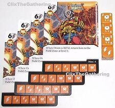 4x ORION: GOD OF WAR 26/124 Batman Dice Masters DC