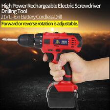 Taladro Sin Cable 21V Batería de Li-ion Destornillador Eléctrico Recargable 220V