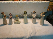 Lot Of 6 Willow Tree Angels Figurines