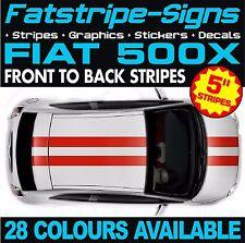 FIAT 500X STRIPES GRAPHICS DECALS STICKERS CAR VINYL 1.4 1.6 2.0 ABARTH RACING