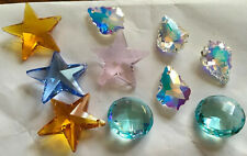 Assorted Authentic Swarovski Pendant Beads Lot 10 Pcs Star Baroque Pink Blue NEW