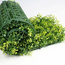 8pcs 20X20in Artificial Box Yellow Myrtle Mat Wall Hedge Decor Fence Premium