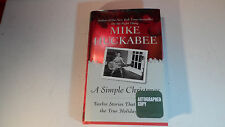 A SIMPLE CHRISTMAS HARDCOVER BOOK AUTOGRAPH SIGNED MIKE HUCKABEE
