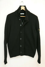Stone Island Men's Full Zip Wool/Nylon  Black Cardigan size M