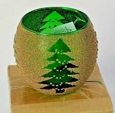 Home Interiors Homco Evergreen Votive Cup Holiday Trees Christmas 55029