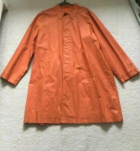 Paul Smith ORANGE Lined water repellent Rain Coat Mac Size L