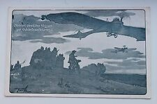 26982 AK Abfahrt deutscher Flieger zur Geländeaufklärung Flugzeug Flieger 1915