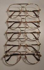 Vintage 5 Pc. Lot Elite Cobra Gold 54/18 Eyeglass Frame New Old Stock #S39