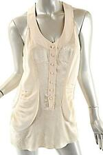 BALENCIAGA SILK Ivory Long Tank Top Snake Embossed Button Front - 38/US6