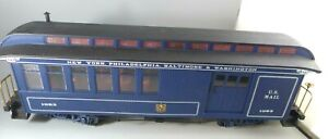 G Scale Bachmann B&O Royal Blue 1063 Combo Passenger