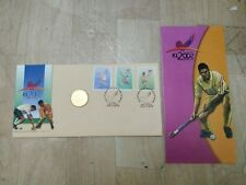 MALAYSIA 2002 World Cup Hockey Hoki 3v Stamp FDC & Nordic Gold Medallion Coin