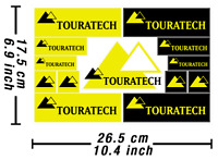 Touratech Box Aufkleber Hochleistungsgrafiken Autokollant Stickers /615