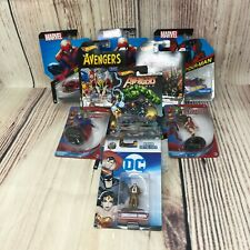 Lot Of Marvel & Dc Assorted Action Figures & Hot Wheel Cars (10 Total New)