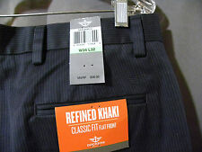 NEW Dockers D3 Khaki Pants 34x32 Flat Front Straight Fit Dark Gray 4 pocket NWT