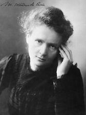Marie Curie-Repro-autógrafo, 20x26cm, foto grande