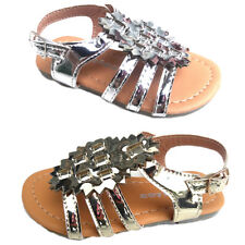 Baby toddler girls sandals shoes gold or silver color size 1-6