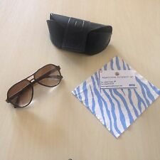 POLICE Aviator Sunglasses S1614 Z90 Dark Brown / Brown Gradient Lenses-Excellent
