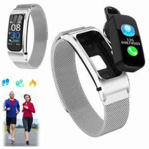 2 in 1 Bluetooth Fitness Tracker Smart Watch Driving Wireless Headset Handsfree