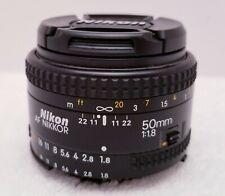 Nikon 50mm f/1.8 AF Nikkor Lens for Nikon Cameras 1:1.8