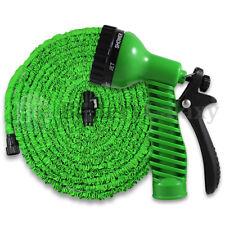 100 Feet 100FT Expandable Flexible Garden Water Hose+Spray Nozzle Green 900+SOLD