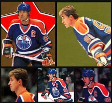 Lot of 5 Wayne Gretzky Oilers 1987-88 O-Pee-Chee 87-88 NHL Hockey Stickers