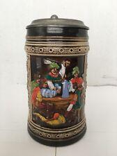 Vintage German Beer Stein Mug Estate Marked Lid Thumblift