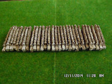 n gauge scale walling railway train set layout 35 brown straights walls