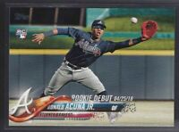 🔥💎 RONALD ACUNA JR 2018 Topps Update ROOKIE DEBUT Atlanta Braves #US252 RC