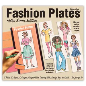 Playmonster Fashion Plates Retro Remix Edition - Create, Design, and Color