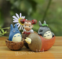 3pcs/Set Anime My Neighbor Totoro Resin Classic Figures Figurine