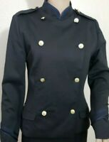 LOVE TREE Black Double Breasted Military Blazer Jacket Women's Size Small NEW!
