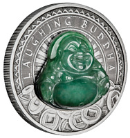 2019 Laughing Buddha 1oz Silver Antiqued Coin