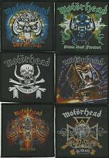 MOTORHEAD bunch of 6 top sellers WOVEN SEW ON PATCHES official LEMMY no.3