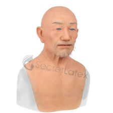 SILICONE OLD MAN MASK MALE DISGUISE GRANDAD REALISTIC RUBBER REAL LIFE LIKE MASK