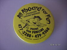 ALL ABOARD FOR FUN STOCKPORT LEISURE SERVICES PICTURE BADGE