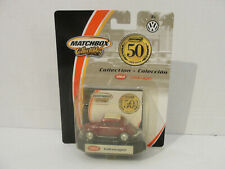Matchbox 50th Anniversary '62 Volkswagen Beetle Vw Bug Maroon 1/64 Real Riders