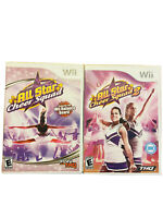 Nintendo Wii Lot All Star Cheer Squad 1 & 2 Complete With Game Manuals Case Rare