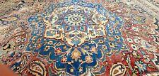 Pre-1900's Antique Wool Pile Teal Blue Armenian Oushak Area Rug 8x10ft