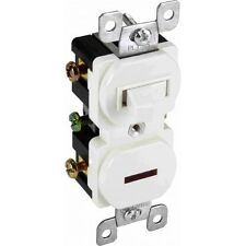 Orbit PLTS15-W 15A Single Pole Stack Switch with Pilot Light White