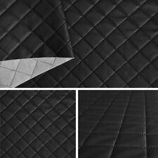 Kunstleder Leder PVC PKW kaschiert gesteppt 5x5 schwarz SAM191 10 Möbel Deko