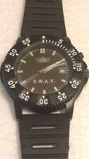 UZI SWAT Watch / Tactical Black Case & Rubber Strap UZI-455S Discontinued Model