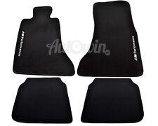 BMW 7 Series F02 F02LCI Black Carpets With Performance Emblem 2007-2014 LHD