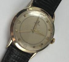 Vintage 14 K Solid Gold Omega Mechanical Mens Watch